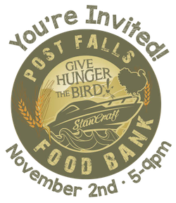 Give Hunger the Bird November 2 in Post Falls, Idaho